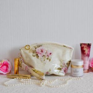 De la Rose eesti käsitöökott kosmeetikakott niiskuskindel roosa