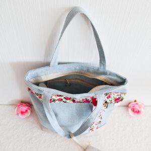 De la Rose eesti käsitöökotid uuskasutusena tugevast mööbikangast vastupidav pestav