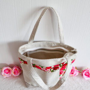 De la Rose eesti käsitöökotid uuskasutusena mööbikangast vastupidav pestav taskuga