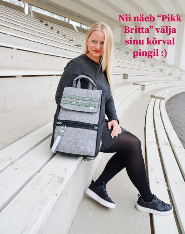 De la Rose eesti käsitöö disainkott vastupidav uuskasutus mööblikangast
