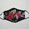 De la Rose näomask filtritaskuga puuvillasest riidest pestav ninatraadiga