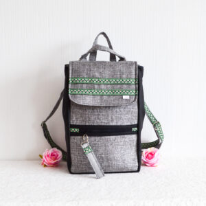 De la Rose eesti käsitöö disain seljakott mööblikangast uuskasutus ainueksemplar