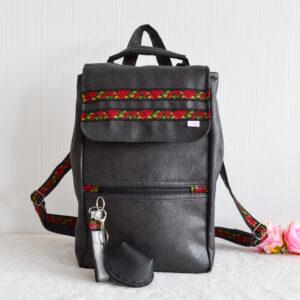 De la Rose seljakott uuskasutusena valminud eesti käsitöö mööblinhak/kunstnahk